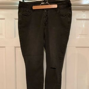 Old Navy Button Closure raw hem jeggings